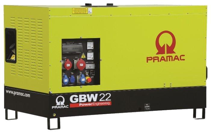 Дизельная электростанция Pramac GBW 22 Y 230V в кожухе с АВР
