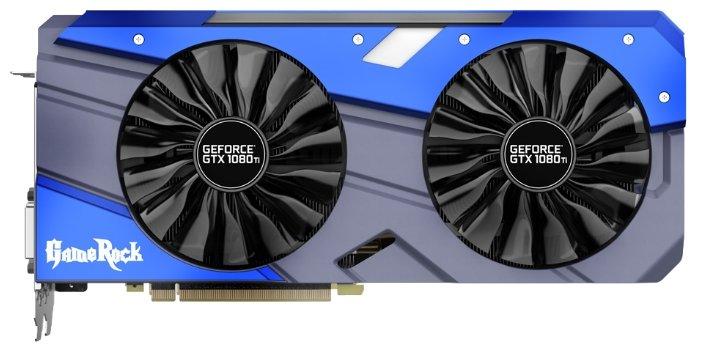 Видеокарта Palit GeForce GTX 1080 Ti 1518Mhz PCI-E 3.0 11264Mb 11000Mhz 352 bit DVI HDMI HDCP GameRock Premium Edition