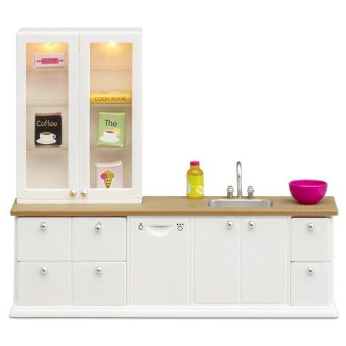 Купить Lundby Кухонный набор с буфетом Смоланд (LB_60202600) белый, Мебель для кукол