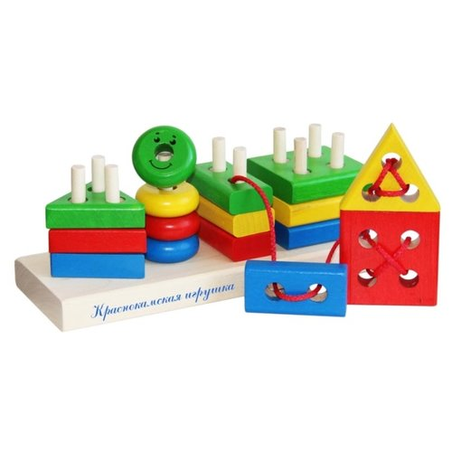 Пирамидка-сортер Краснокамская игрушка ГеометрикПирамидки<br>