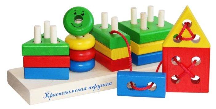Пирамидка-сортер Краснокамская игрушка Геометрик