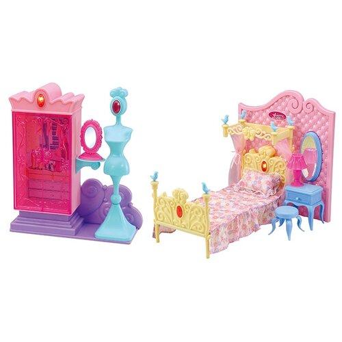 Купить Dolly Toy Спальня принцессы (DOL0803-016) розовый/голубой/фиолетовый, Мебель для кукол