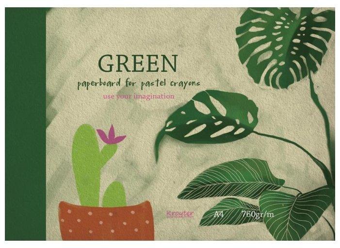 Альбом для рисования пастелью Кройтер Зеленый 29.7 х 21 см (A4), 760 г/м², 10 л.