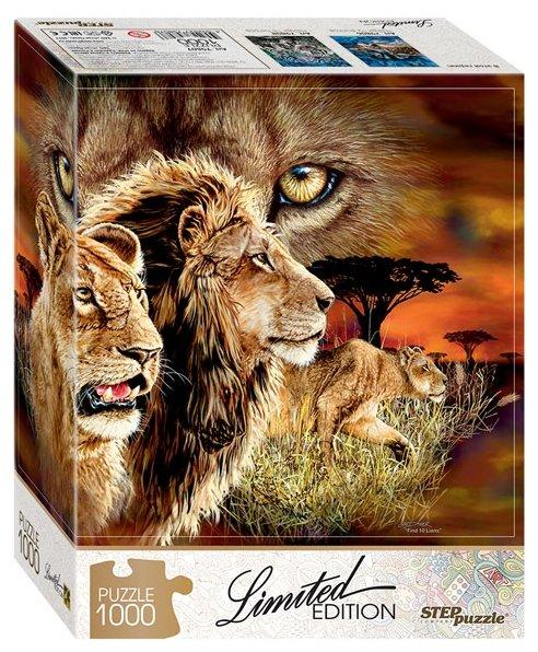 Пазл Step puzzle Limited Edition Найди 10 львов (79807), 1000 дет.