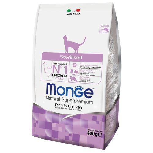 Корм для кошек Monge Cat Sterilized – для стерилизованных кошек (0.4 кг)Корма для кошек<br>