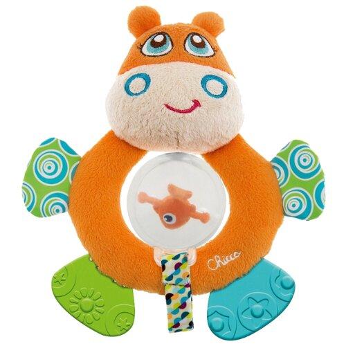 Прорезыватель-погремушка Chicco Бегемот Hippo 7200 оранжевый chicco погремушка ключи на кольце голубая chicco