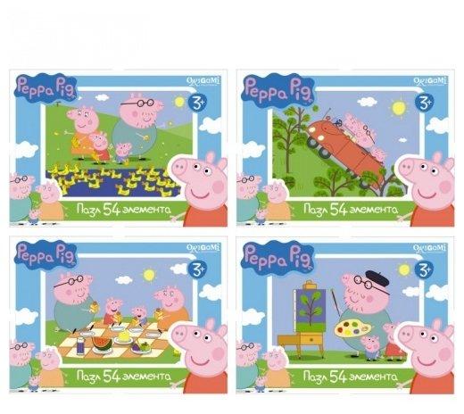 Пазл Origami Peppa Pig (01595) в ассортименте, 54 дет.