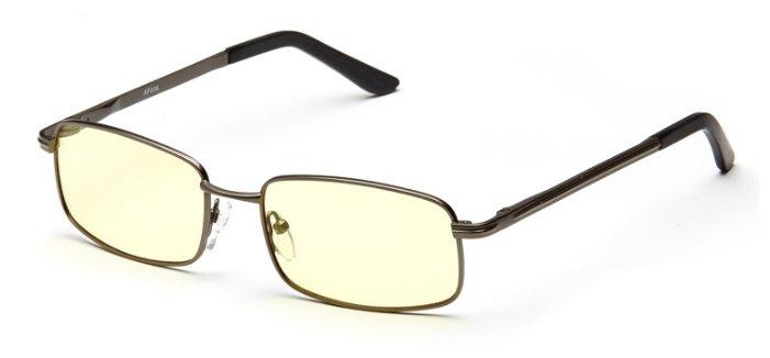 Очки для компьютера SPG Comfort AF024, цвет оправы: черный, цвет линз: желтый