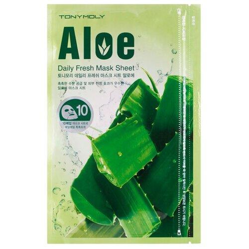 Фото - TONY MOLY тканевая маска Daily Fresh Aloe, 150 г, 10 шт. tony moly тканевая маска pureness 100 pearl 21 мл