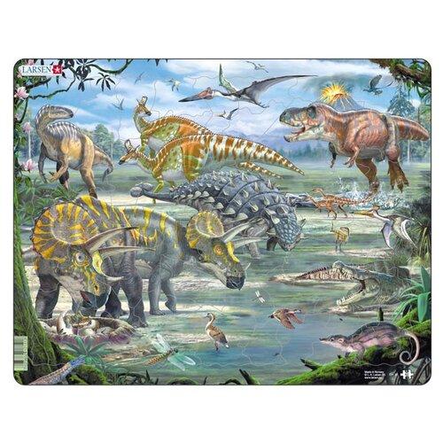Рамка-вкладыш Larsen Динозавры (FH31), 65 дет.