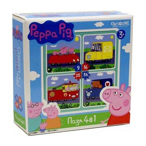 Купить Набор пазлов Origami Peppa Pig Транспорт 4 в 1 (01597), Пазлы