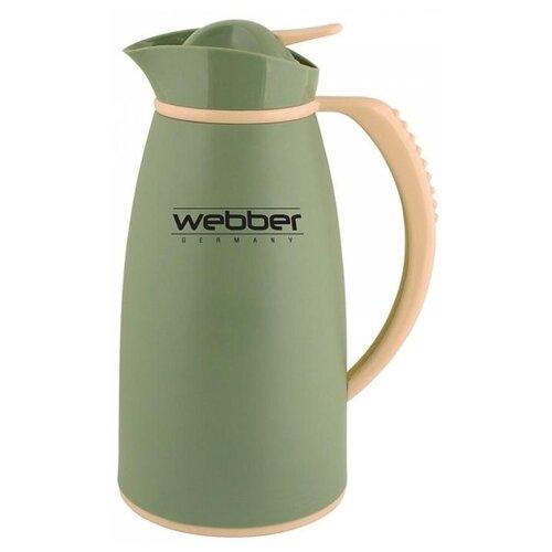 Термокувшин Webber 31004, 1 л зеленый/серый