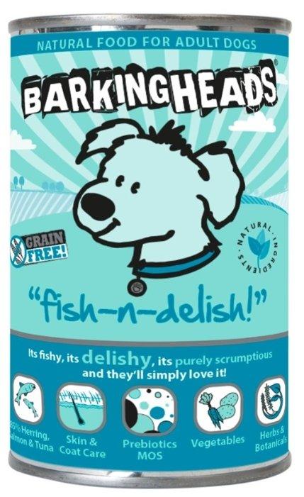 Корм для собак Barking Heads Консервы для собак с лососем, тунцом и сельдью Рыбка-вкусняшка