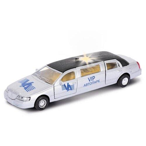 Купить Легковой автомобиль ТЕХНОПАРК Лимузин VIP (CT10-052) 1:43 белый, Машинки и техника