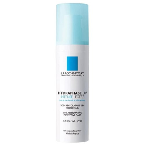 La Roche-Posay Hydraphase UV Intense Legere Интенсивное увлажняющее средство с защитой от UV для лица, шеи и области декольте, 50 мл hydraphase intense legere