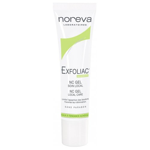 Noreva laboratories Exfoliac Гель NC GEL Soin local, 30 мл noreva роликовый карандаш exfoliac 5 мл