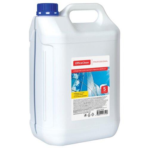 Жидкость OfficeClean Professional для мытья стекол и зеркал с нашатырным спиртом 5000 мл