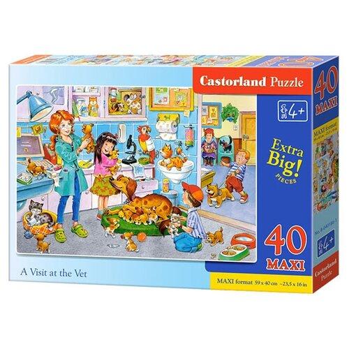 Купить Пазл Castorland A Visit at the Vet (B-040186), 40 дет., Пазлы