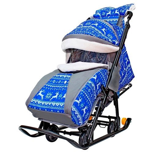 Купить Санки-коляска Galaxy Snow Luxe, Санки и аксессуары