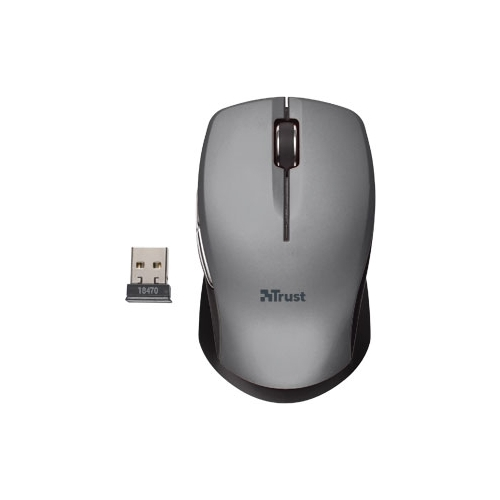 Мышь Trust Hyperwheel Wireless Mouse Grey-Black USB
