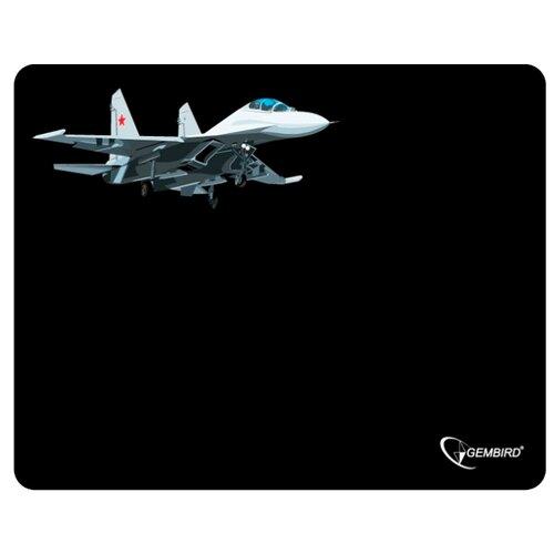 Коврик Gembird MP-GAME5 черный/самолёт