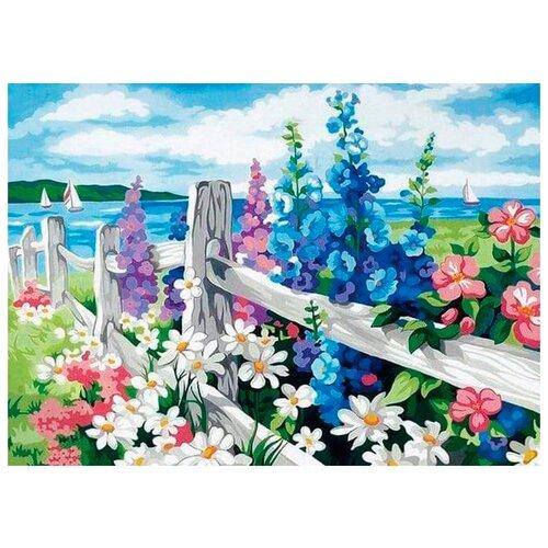 Купить Цветной Картина по номерам За околицей 40х50 см (MG184), Картины по номерам и контурам