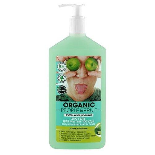 Organic People Гель для мытья посуды Дикая мята и лайм 0.5 л с дозаторомДля мытья посуды<br>