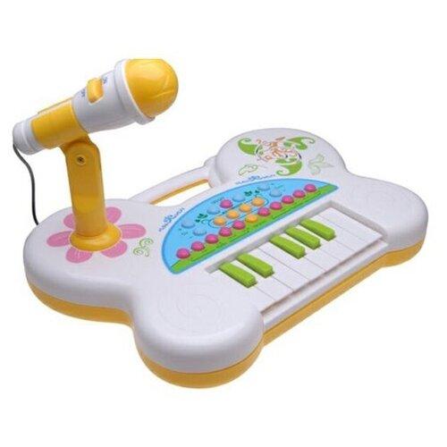 музыкальные игрушки potex синтезатор smart piano 32 клавиши 939в Potex пианино Singing piano 507B голубой/белый/желтый/розовый