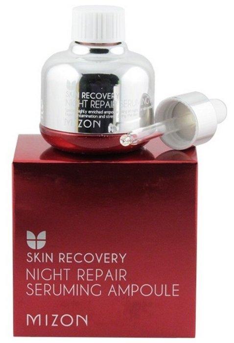 сыворотка для лица mizon night repair seruming ampoule купить