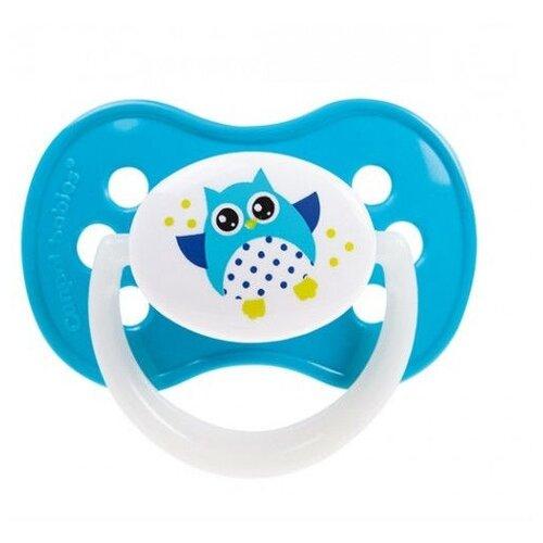 Купить Пустышка силиконовая анатомическая Canpol Babies Owls 6-18 м (1 шт) голубой, Пустышки и аксессуары
