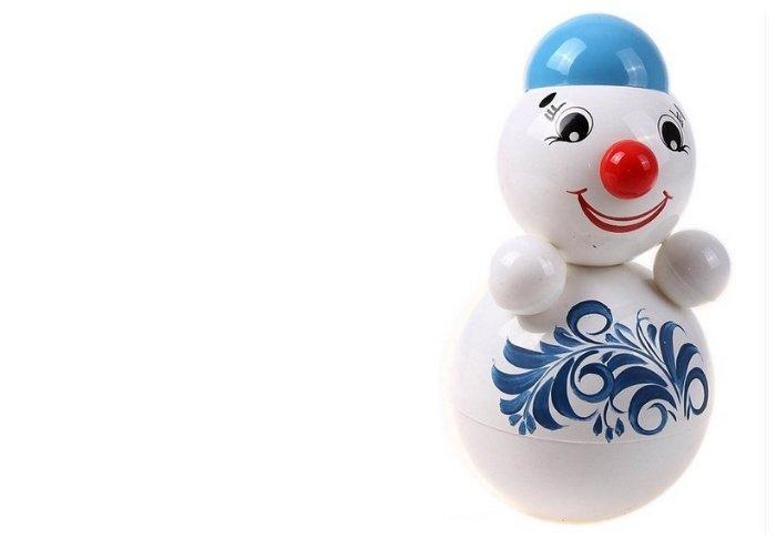 Неваляшка Котовские неваляшки Снеговик (6С-0010) 22 см