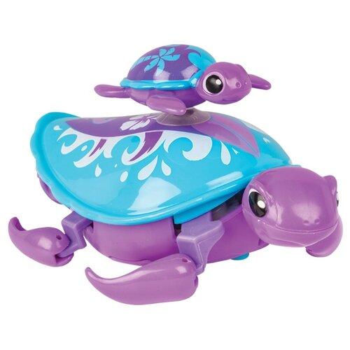 Купить Робот Moose Little Live Pets Черепашка с малышом 28416 фиолетовый, Роботы и трансформеры
