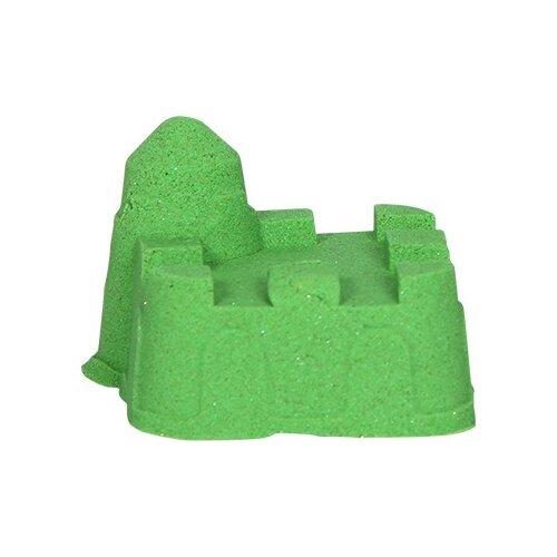Кинетический песок ДобрБобр базовый, зеленый, 0.5 кг, пластиковый контейнер