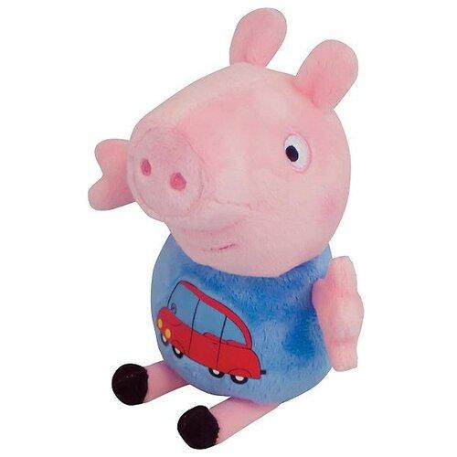 Мягкая игрушка РОСМЭН Peppa pig Джордж с машинкой 18 см