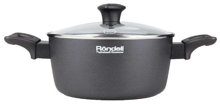 Кастрюля Rondell Marengo 2,6 л, серый