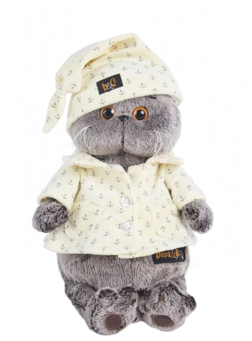 Игрушка мягкая Кот Басик в пижаме (Рост 30 см)
