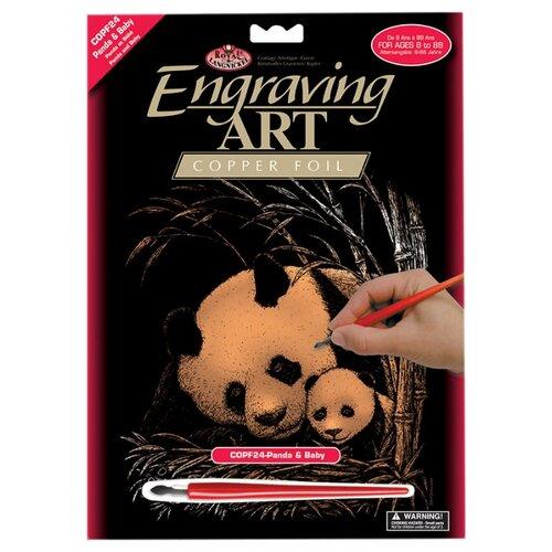 Купить Гравюра Royal & Langnickel Панда с малышом (COPF24) медная основа, Гравюры