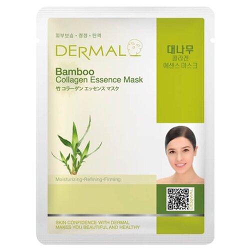 DERMAL тканевая маска Bamboo Collagen Essence Mask с коллагеном и экстрактом бамбука, 23 г dermal тканевая маска bamboo collagen essence mask с коллагеном и экстрактом бамбука 23 г