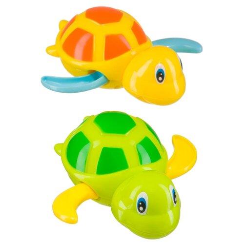 Купить Набор для ванной Happy Baby Swimming Turtles (331843) зеленый/желтый, Игрушки для ванной