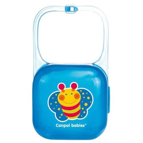 аксессуары для пустышек lubby футляр для пустышек Футляр для пустышек Canpol Babies Happy Garden 0 м (1 шт.) синий