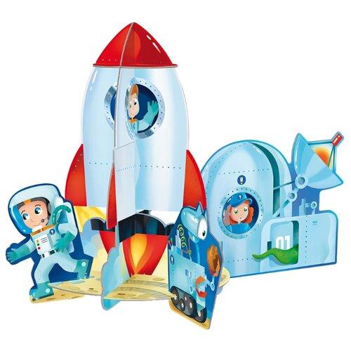 Купить 3D-пазл ГеоДом 3D Ракета (4607177454153) + книга, 12 дет., Пазлы
