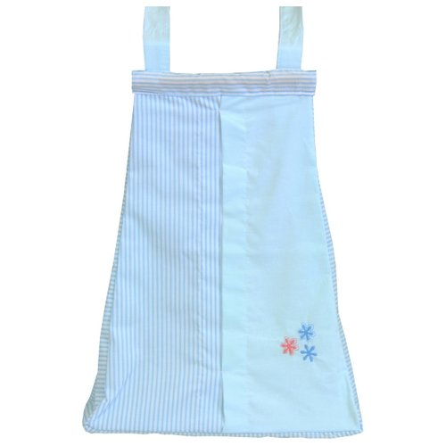 Купить Fairy Сумка для пелёнок и подгузников Белые кудряшки голубой, Органайзеры и карманы в кроватку