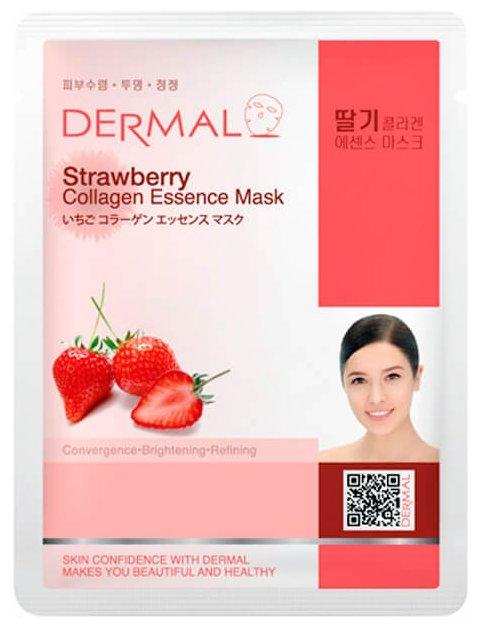 DERMAL тканевая маска Strawberry Collagen Essence Mask с коллагеном и экстрактом клубники