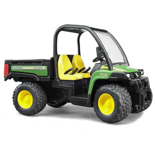 Купить Грузовик Bruder мини John Deere Gator XUV 855D (02-491) 1:16 23 см зеленый/черный/желтый, Машинки и техника