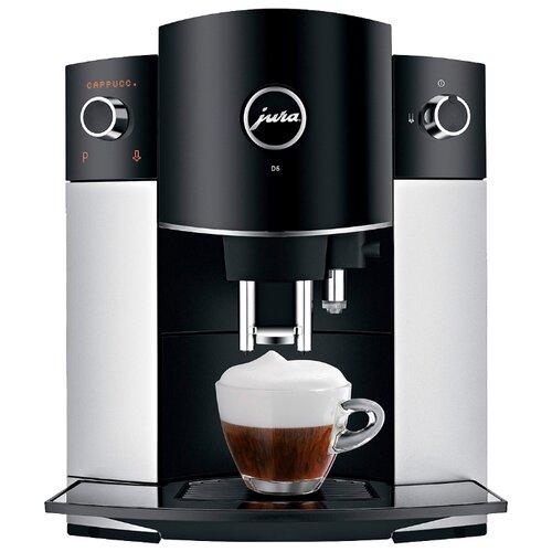 Кофемашина Jura D6 Platin черный/серебристый кофемашина jura z6 satinsilber серебристый черный
