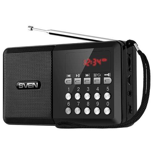 Портативная акустика SVEN PS-60, черный портативная акустика sven ps 68 черный