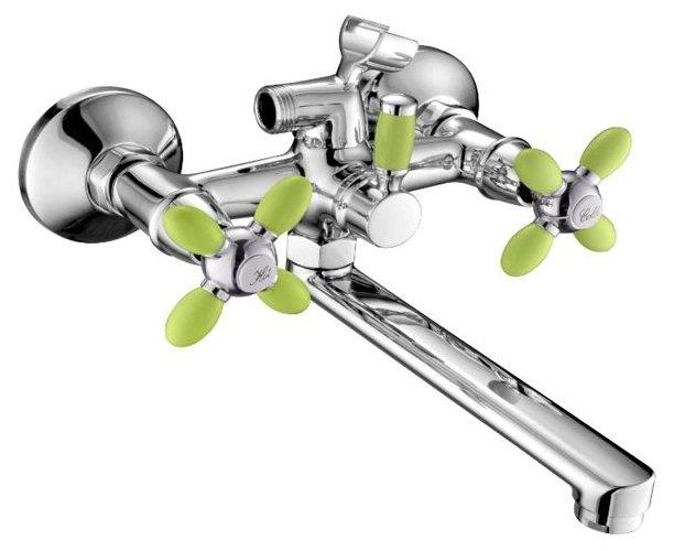 Смеситель для ванны с подключением душа Accoona H82 A6482G/A6482H/A6482K двухрычажный — купить по выгодной цене на Яндекс.Маркете