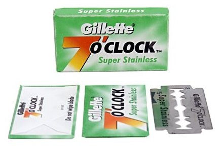 Лезвия для T-образного станка Gillette Super Stainless 7 o'clock