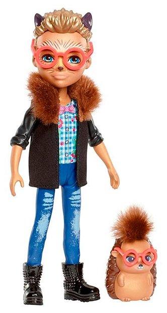 Кукла Enchantimals Хиксби Ежик с любимой зверюшкой, 15 см, FJJ22