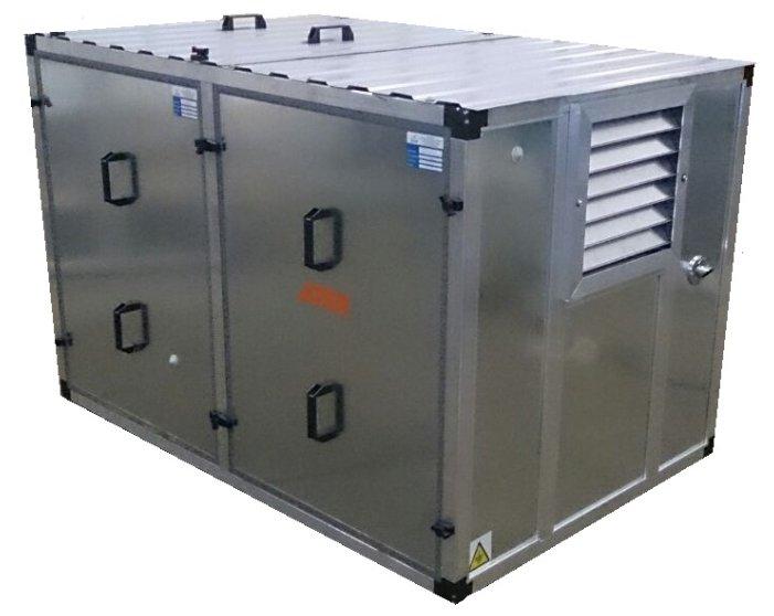 Бензиновая электростанция Pramac S8000 3 фазы в контейнере с АВР